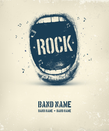 Rock music poster, eps 10