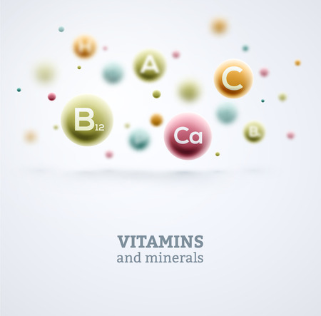 Vitamins and minerals background