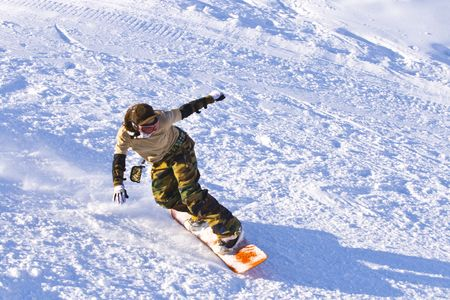 Snowboarding dynamic picture
