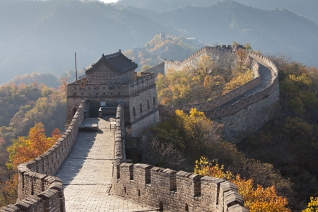 The Great Wall of China of autumn