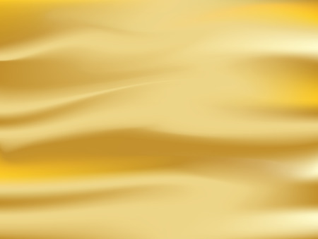 Illustration pour Abstract gold. background Vector gold cloth Fabric Textile Drape with Crease Wavy Folds.with soft waves and Gold fabric, waving in the wind - image libre de droit