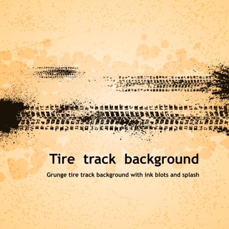Grunge tire track background.