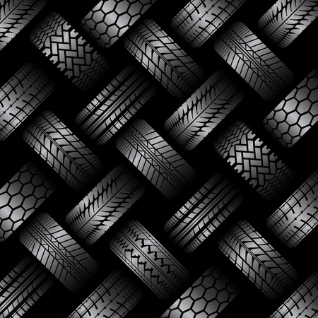 Illustration for Cars tire tracks background - Royalty Free Image