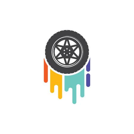 Car wheel color track