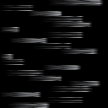Illustration for White tire track horizontal lines silhouettes isolated on black background - Royalty Free Image
