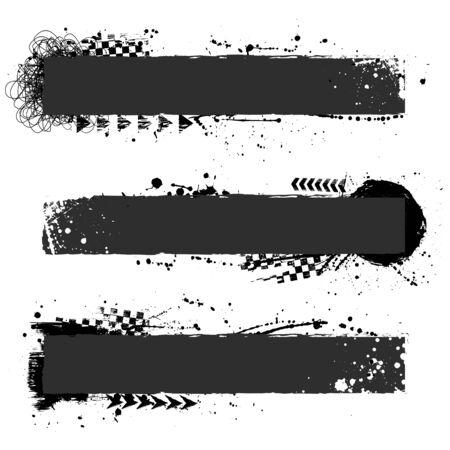 Illustration for Three black grunge frames - Royalty Free Image