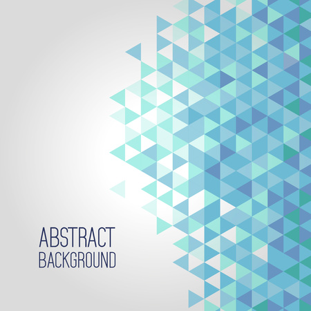 Ilustración de Blue background, elements of geometric shapes pattern - Imagen libre de derechos