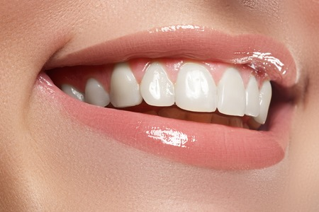Photo for Beauty and fashion. Woman smile. Teeth whitening. Dental care - Royalty Free Image