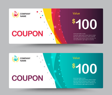 Illustration pour Gift voucher card template design. for special time, Best of customer, Thank giving, and other sale. vector illustration. - image libre de droit