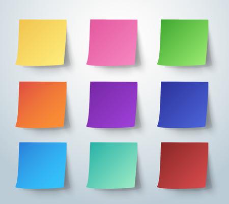 Illustration pour Colorful sticky note, Post-it. vector illustration. - image libre de droit