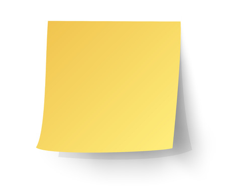 yellow sticky note, Post-it. vector illustration.