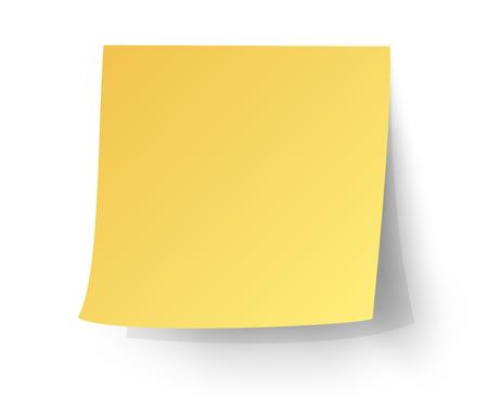 Illustration pour yellow sticky note, Post-it. vector illustration. - image libre de droit