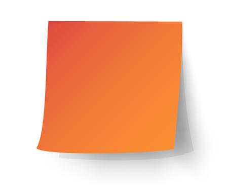 Illustration pour Orange sticky note, Post-it. vector illustration. - image libre de droit