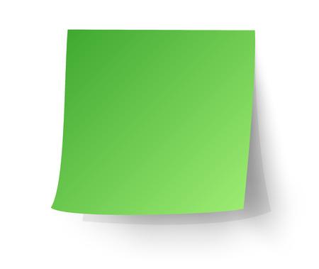 Illustration pour Green sticky note, Post-it. vector illustration. - image libre de droit
