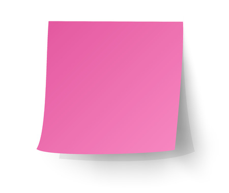 Ilustración de Pink sticky note, Post-it. vector illustration. - Imagen libre de derechos