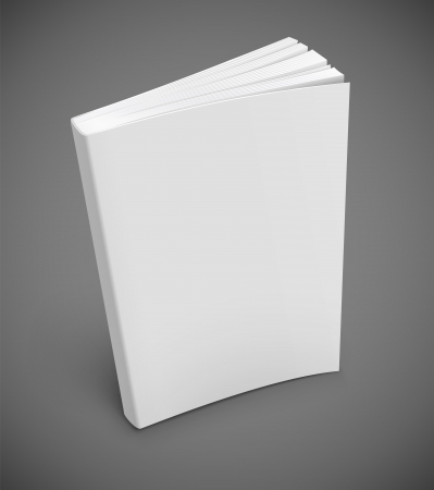 Illustration pour blank book cover illustration gradient mesh used . Transparent objects used for shadows and lights drawing. - image libre de droit