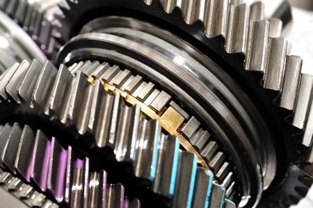 Detail of gearbox gears