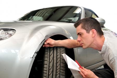 Car insurance expert, isolated on white background.