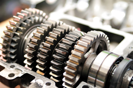 Gears from a motorcycle gearbox