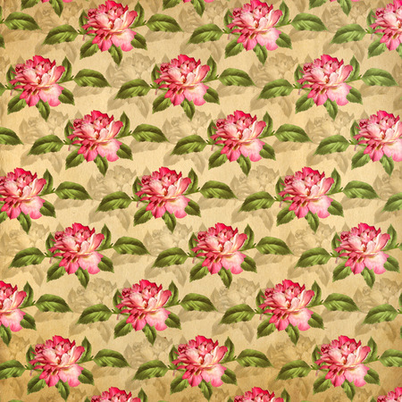 Grunge vintage background with flowers for design