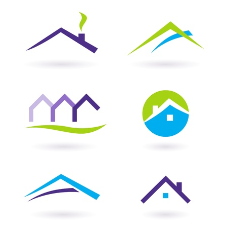 Collection of real estate / architecture icons. Vector format.