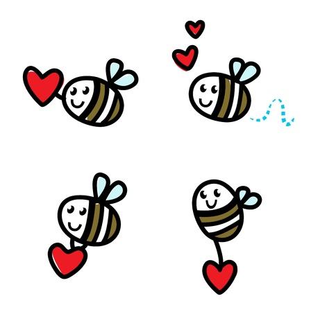 Doodle flying bee set.
