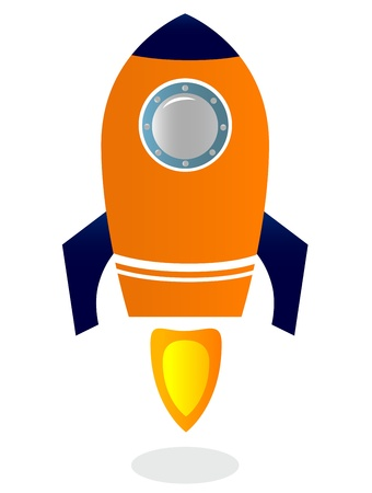 stylized Rocket Ship