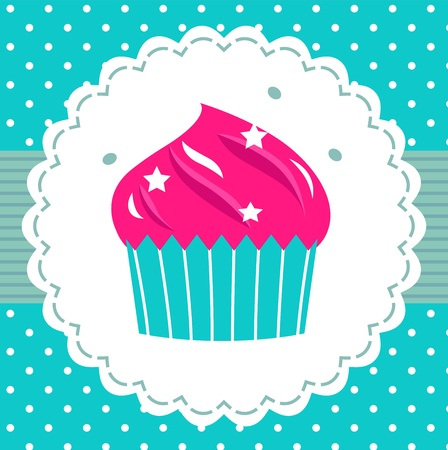 Party Cupcake Mural Wallpaper