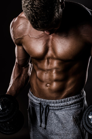Beautiful Abs of Athlete