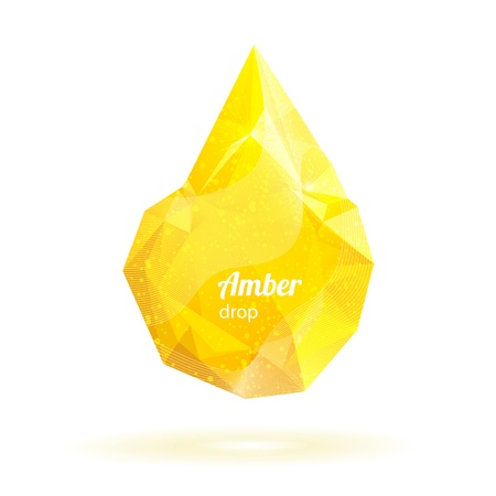 Geometric crystal yellow drop