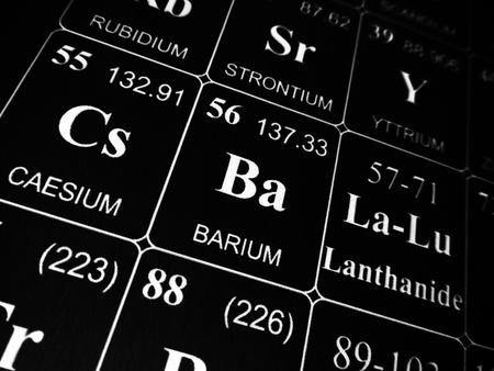Photo pour Barium on the periodic table of the elements - image libre de droit
