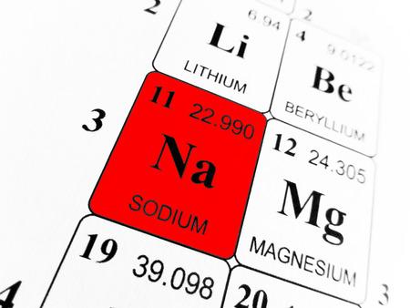 Photo pour Sodium on the periodic table of the elements - image libre de droit