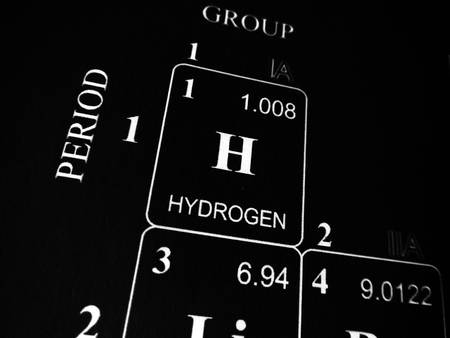 Photo pour Hydrogen on the periodic table of the elements - image libre de droit