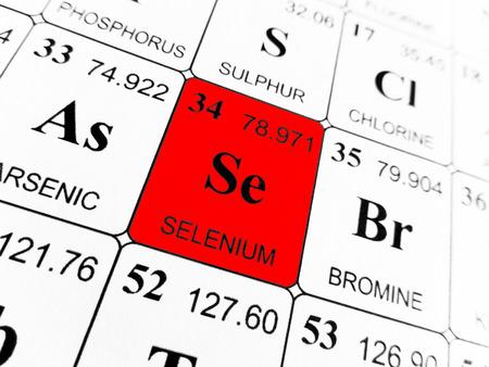 Photo pour Selenium on the periodic table of the elements - image libre de droit