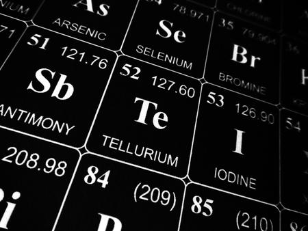 Photo pour Tellurium on the periodic table of the elements - image libre de droit