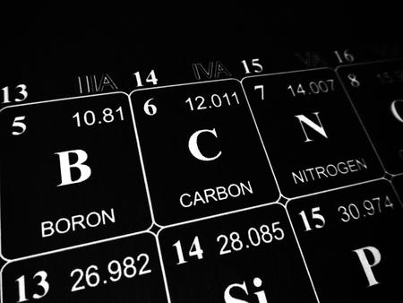 Photo pour Carbon on the periodic table of the elements - image libre de droit