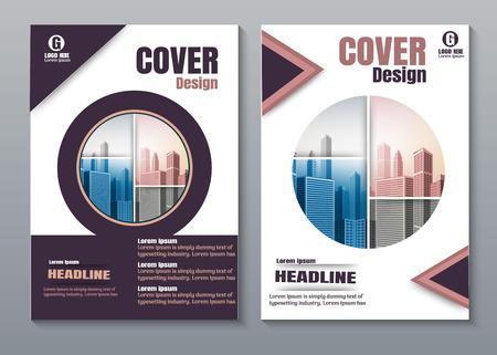 Illustration pour purple Creative book cover design. - image libre de droit
