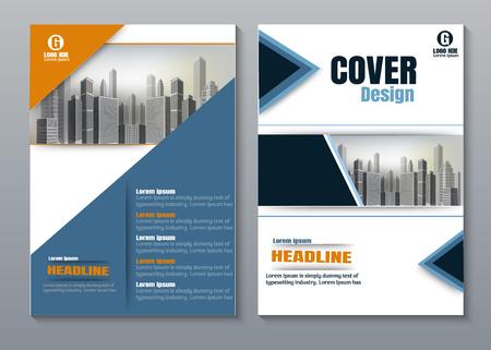 Illustration pour Blue orange Creative book cover design. - image libre de droit