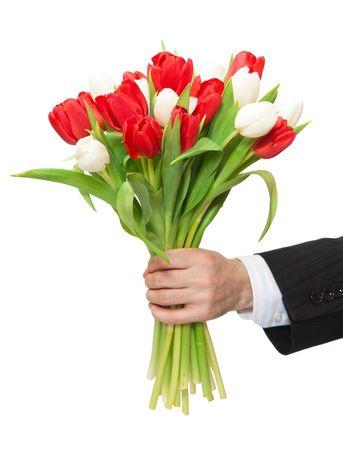 Foto für arm of man giving bouquet - Lizenzfreies Bild
