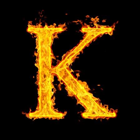 k ,fire letter