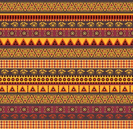 Illustration pour amazing african vector seamless pattern with geometric elements - image libre de droit