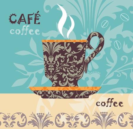 Illustration pour Vector coffee  - image libre de droit