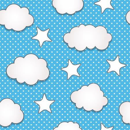 Clouds seamless pattern