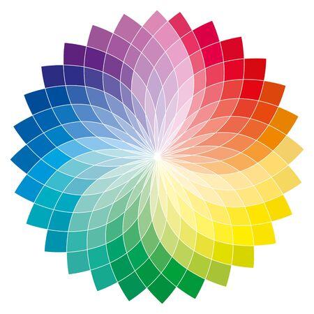 Ilustración de Colored flower obtained from a drawing of a toroid - Imagen libre de derechos