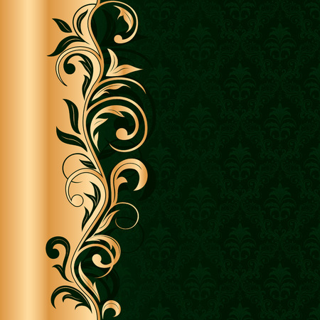 Illustration for Decorative template for text, illustration - Royalty Free Image