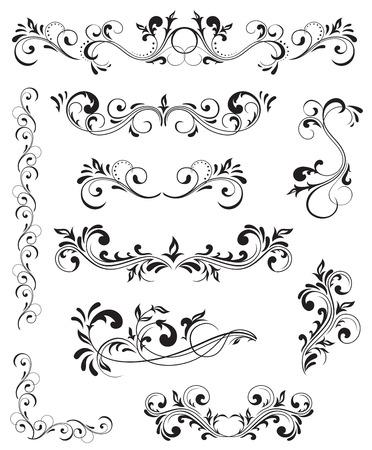 Ornate elements for decor, Illustration