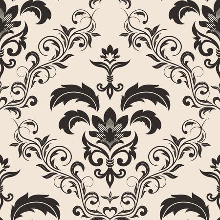 Seamless ornamental wallpaper, floral pattern, illustration