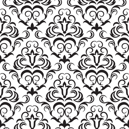 Seamless ornamental wallpaper, floral pattern, illustration
