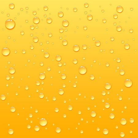 Yellow drops on drink background, illustration