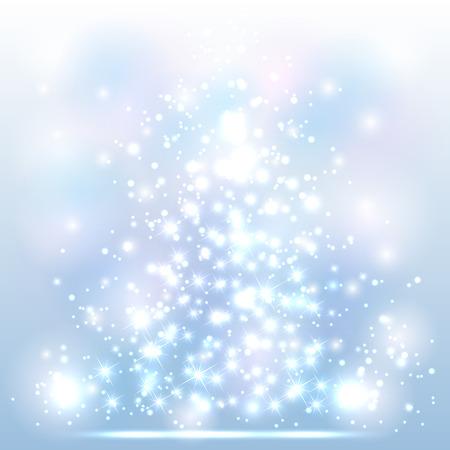 Illustration pour Sparkle Christmas background with shine stars and blurry lights, illustration. - image libre de droit